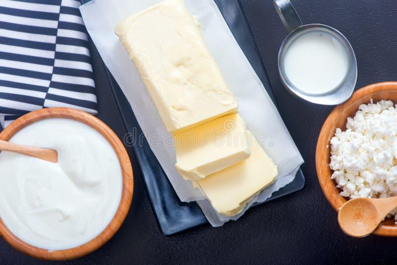 Milk products stock photo