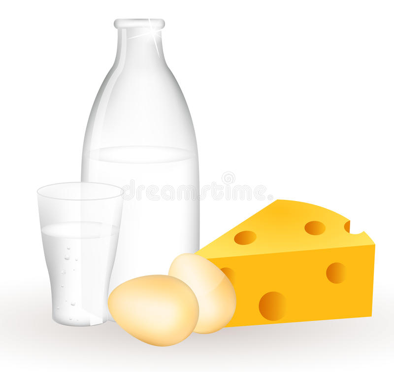 Download Milk Products And Eggs Stock Photo - Image: 19363080