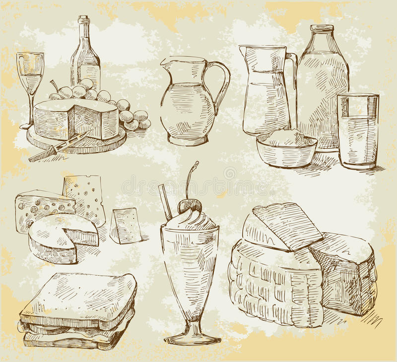 Download Milk products vector set stock vector. Image of food - 23701801