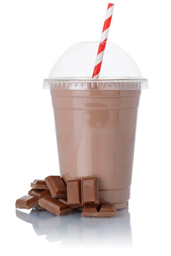 Free Milk Shake Chocolate Milkshake In A Cup Isolated On White Stock Photo - 180956520