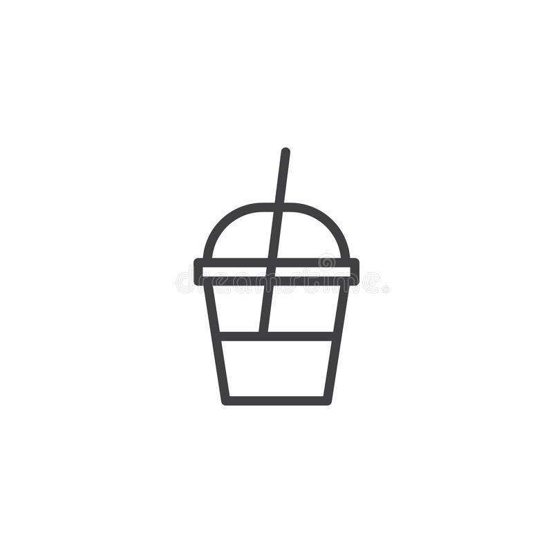 Milk shake container outline icon royalty free illustration