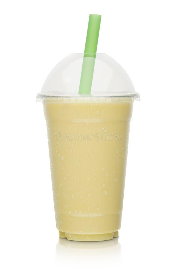 Milk shake da banana imagens de stock