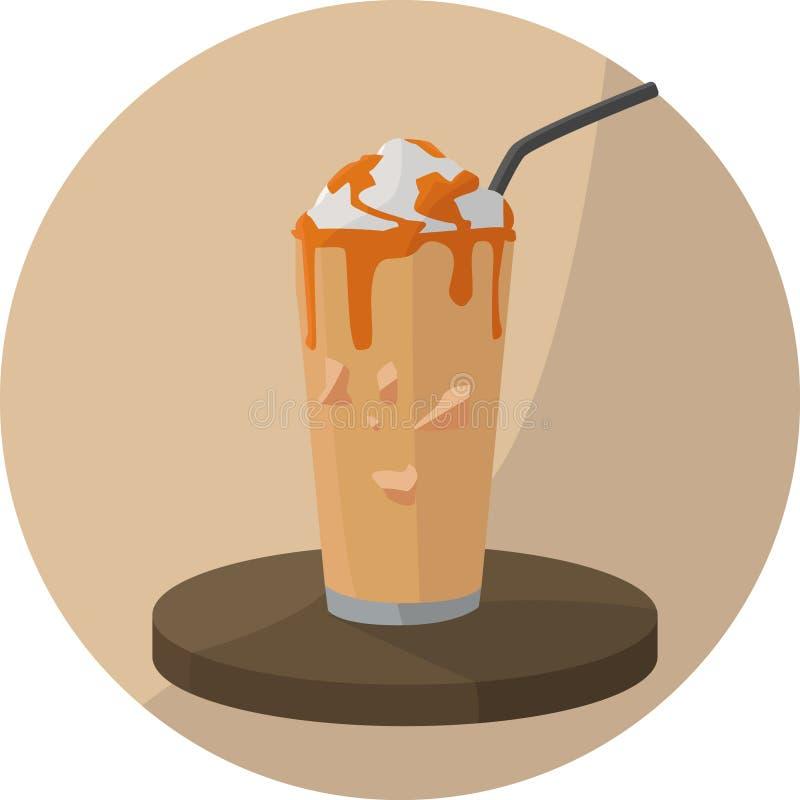 Milk-shake de caramel prêt à boire illustration libre de droits