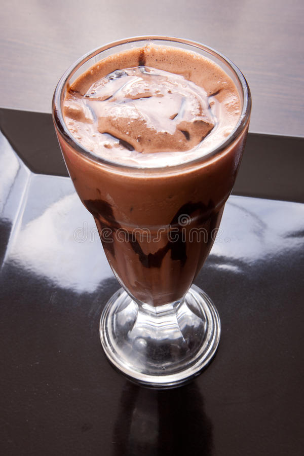 Milk shake do chocolate foto de stock