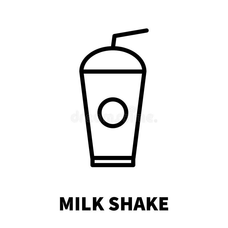 Milk Shake icon or logo in modern line style. royalty free illustration