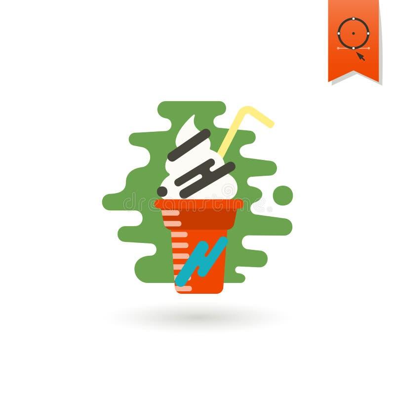 Milk Shake. Modern Flat Icon stock illustration