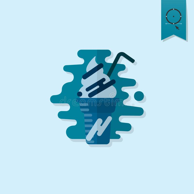 Milk Shake. Modern Flat Icon vector illustration