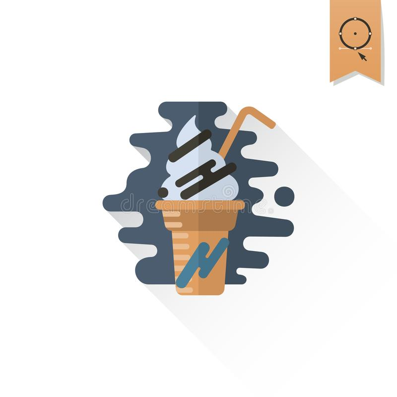 Milk Shake. Modern Flat Icon stock illustration
