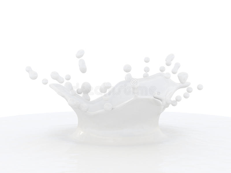 Milk Splash. Stock Image