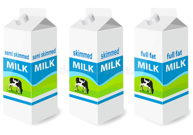 Milk. Vector illustration of Milk Containers