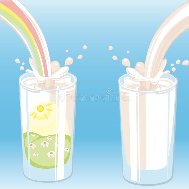 Download Milk vektor stock vector. Image of beverage, milkman - 18496944
