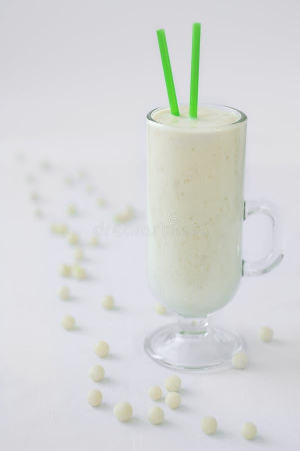 Milk yogurt smoothie cocktail white candy drop stock photo