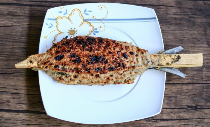 Sate Bandeng. Milkfish satay or Sate Bandeng. Traditional food from Banten, a province near Jakarta stock image