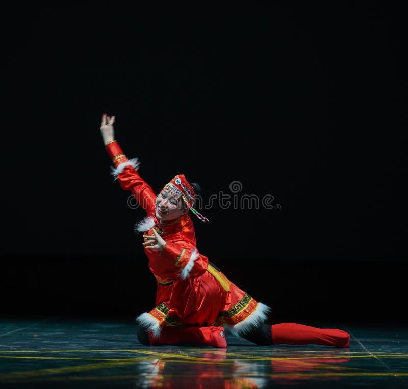 Milking dance-The Mongolia folk dance royalty free stock images