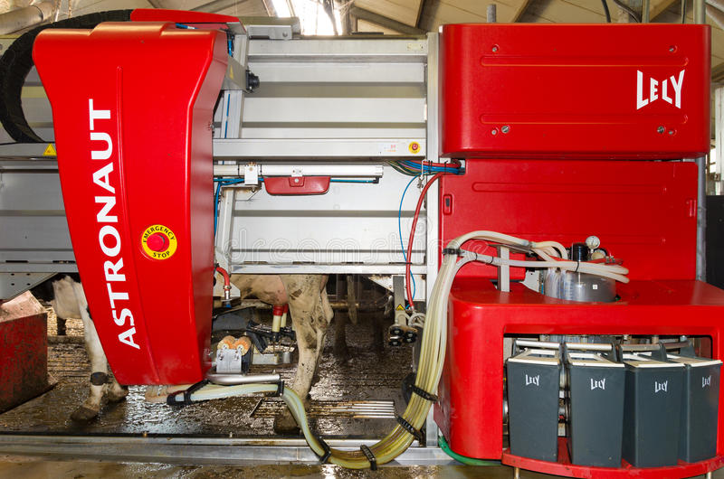 Milking robot royalty free stock images