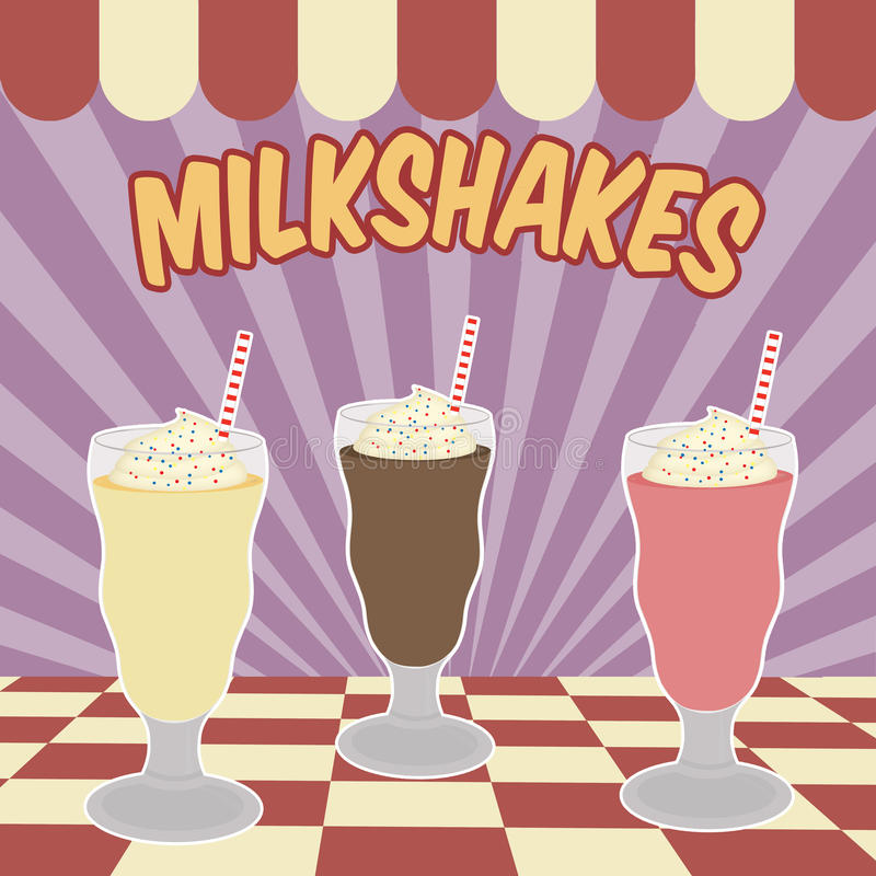Milksakes vintage poster stock illustration