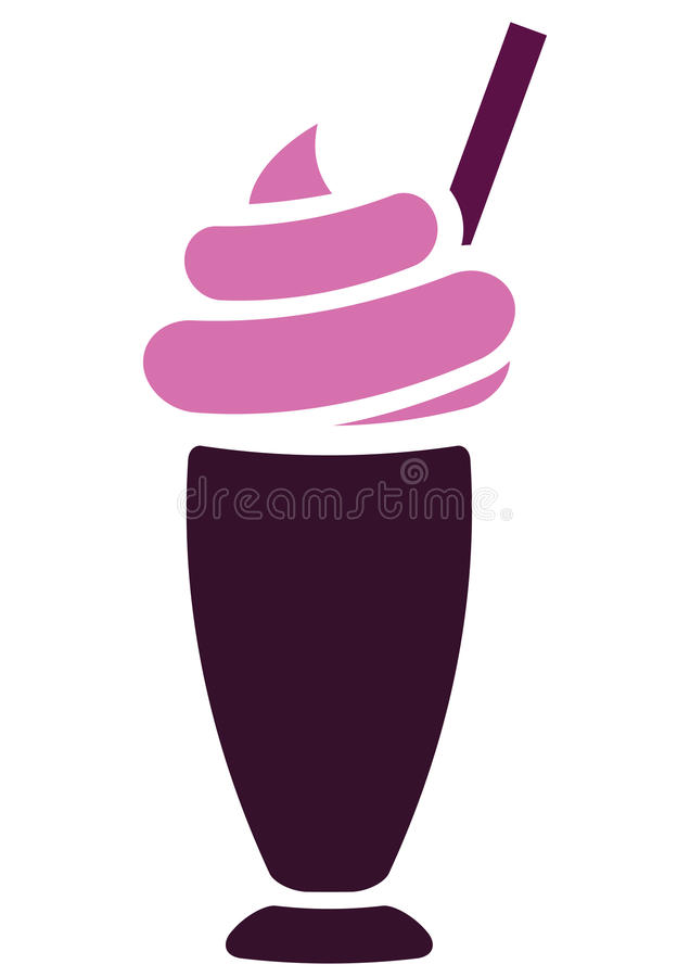 Milkshake stock illustratie