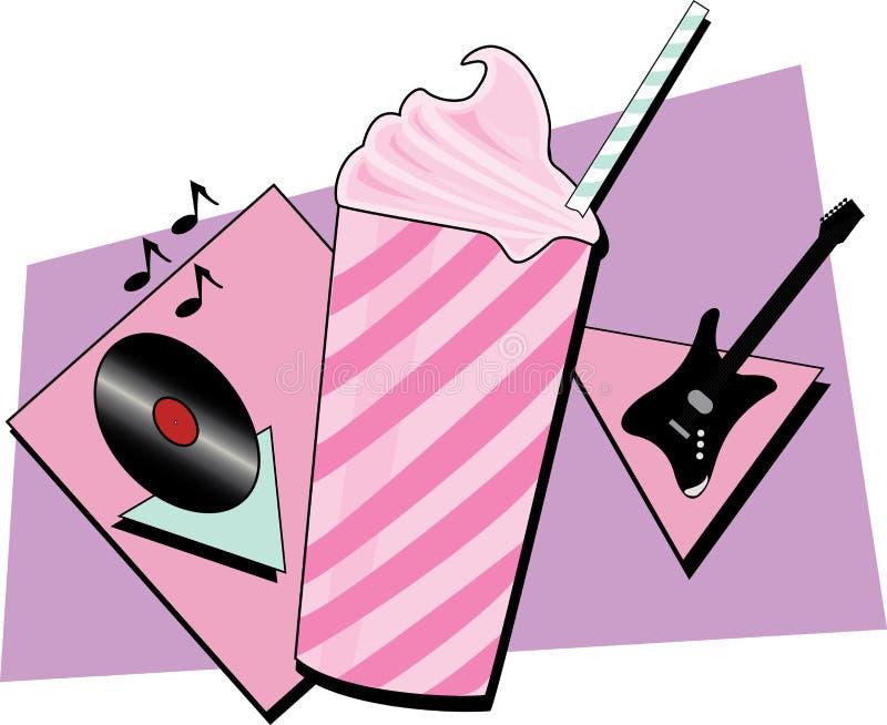 milkshake иллюстрация вектора