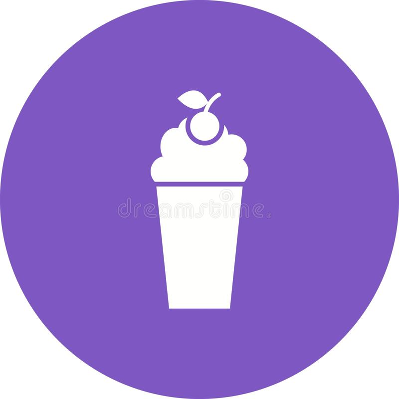 Milkshake de fraise illustration libre de droits