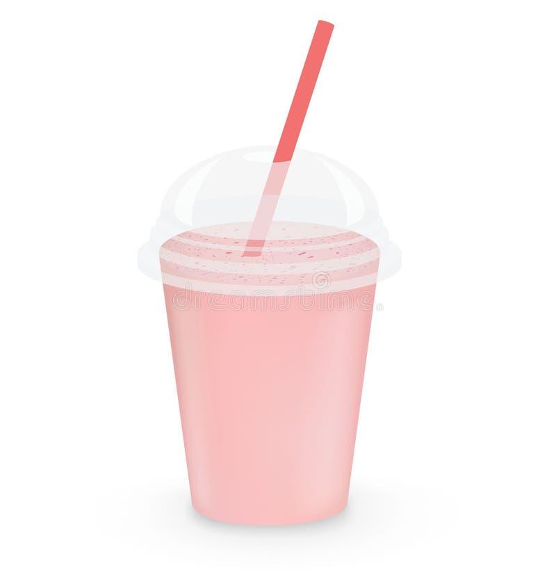 Milkshake de fraise illustration stock