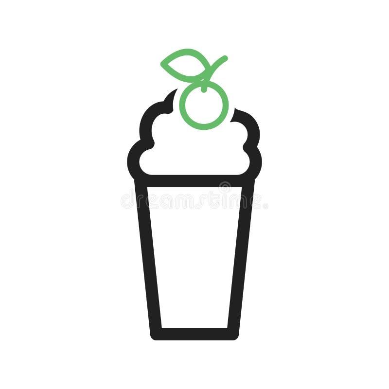 Milkshake de fraise illustration de vecteur