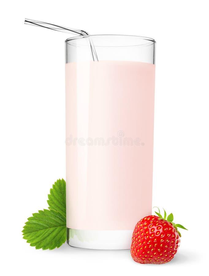 Milkshake de la fresa imagenes de archivo