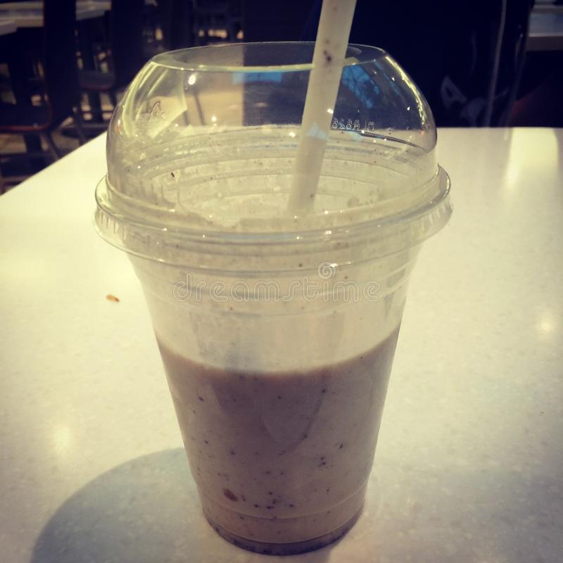 Milkshake de vanille photo stock