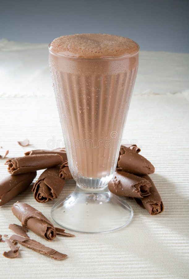 Milkshake del chocolate imagen de archivo libre de regalías