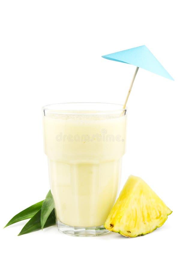 Milkshake do abacaxi fotos de stock royalty free