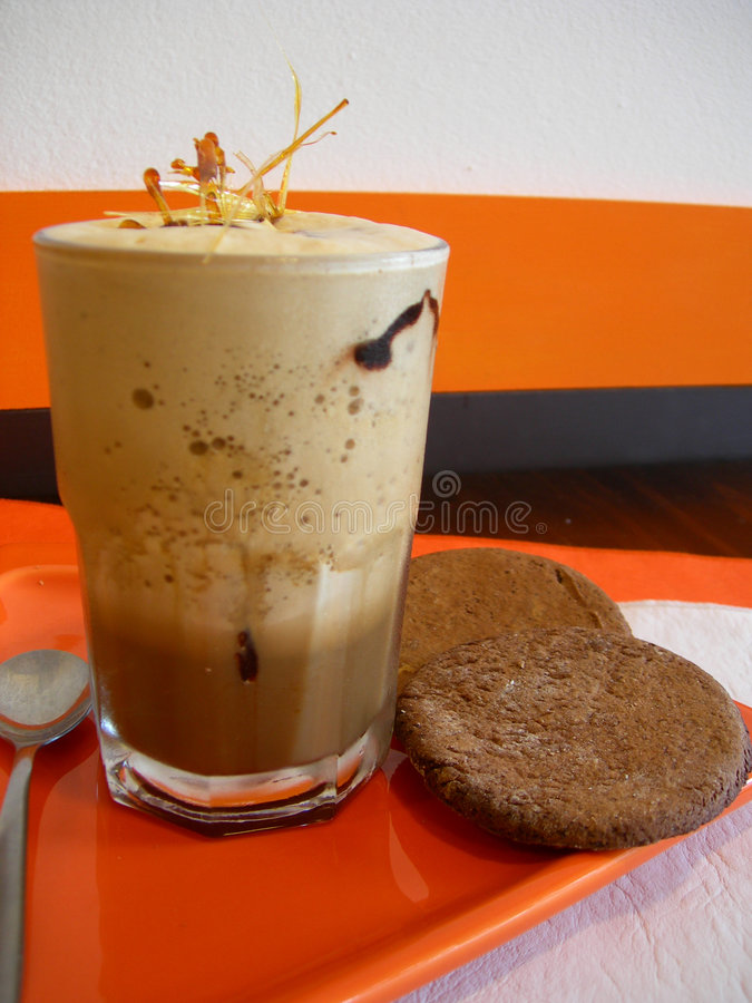 Milkshake do café de gelo foto de stock royalty free
