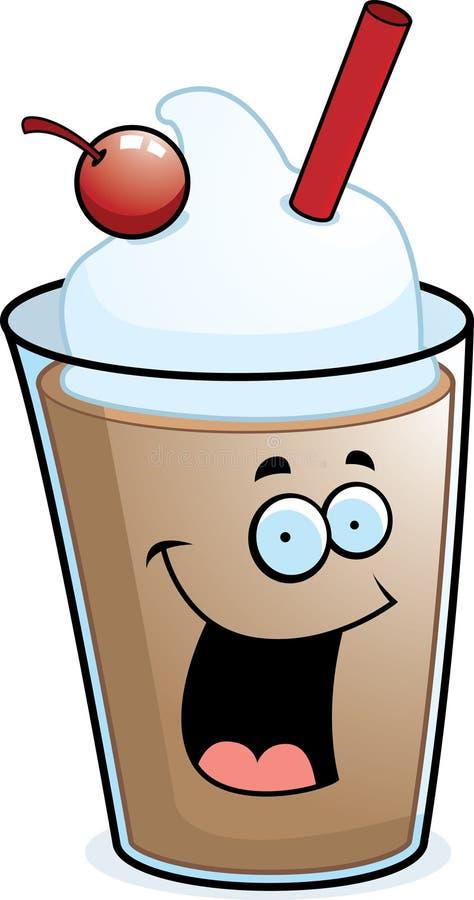 Milkshake do chocolate ilustração royalty free