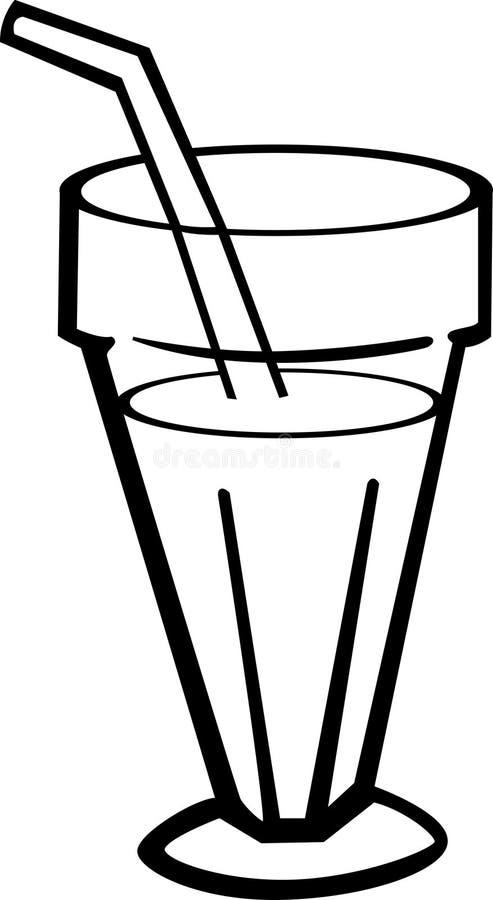 Milkshake en un vidrio libre illustration