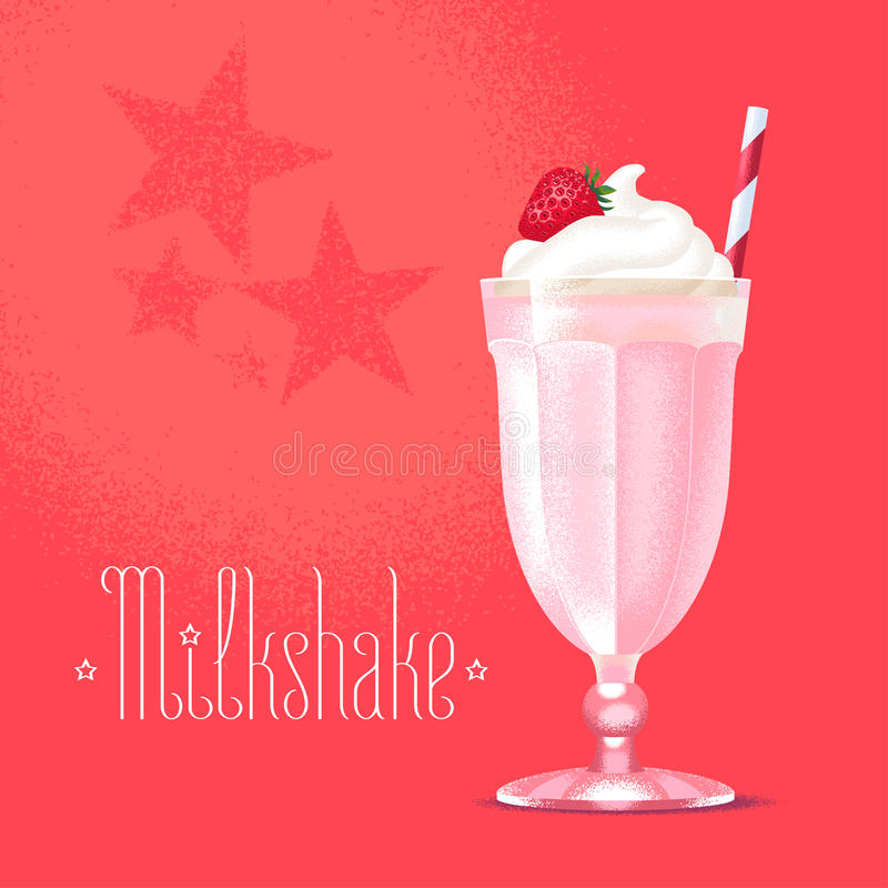 Milkshake illustration, design element royalty free stock photography