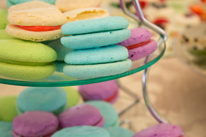 Milkshake Macarons royalty free stock photography