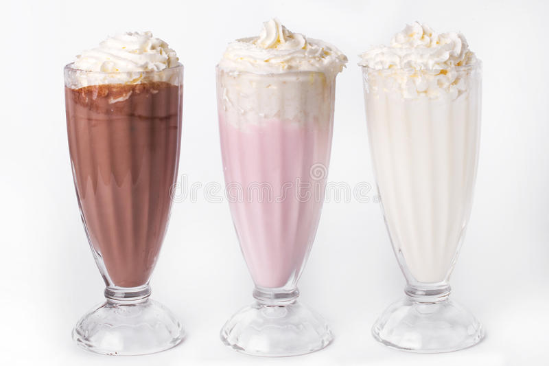 Milkshake na stole fotografia stock