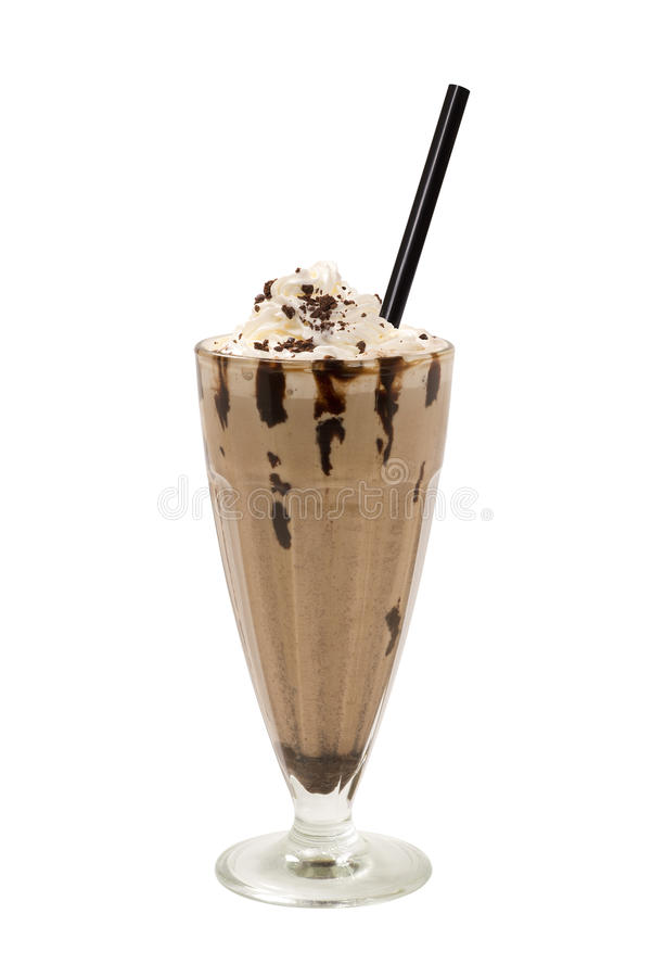 Milkshakechokladkaffe arkivfoto
