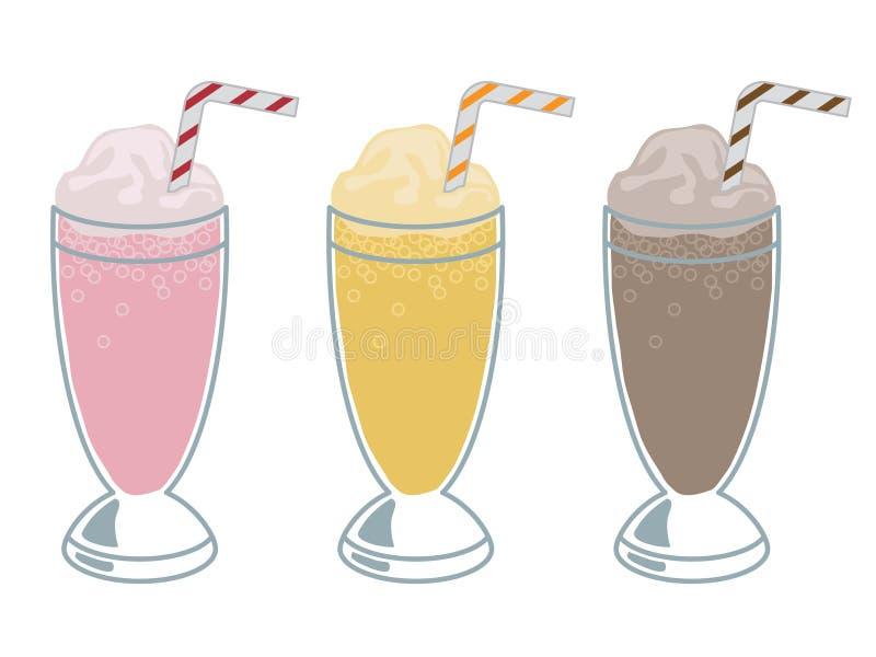 Milkshaken stock illustratie