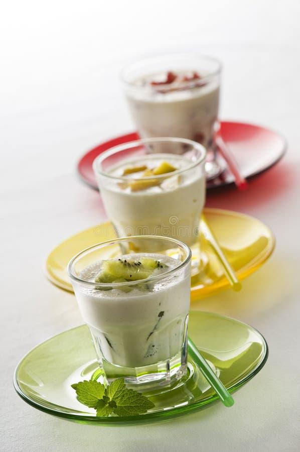 Milkshakes fotografia de stock