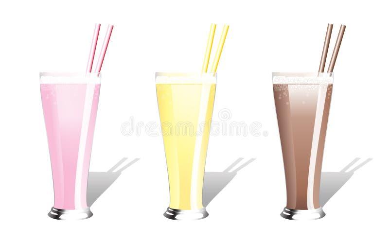 Milkshakes ilustração do vetor