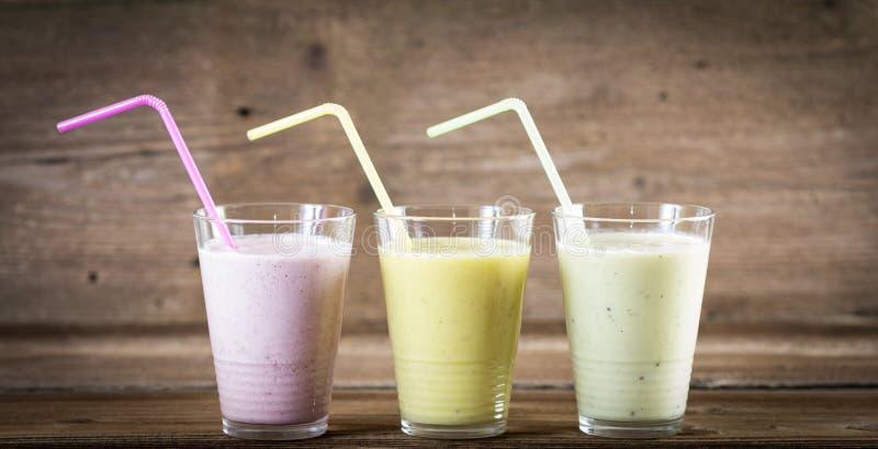 Milkshakes royalty-vrije stock foto's