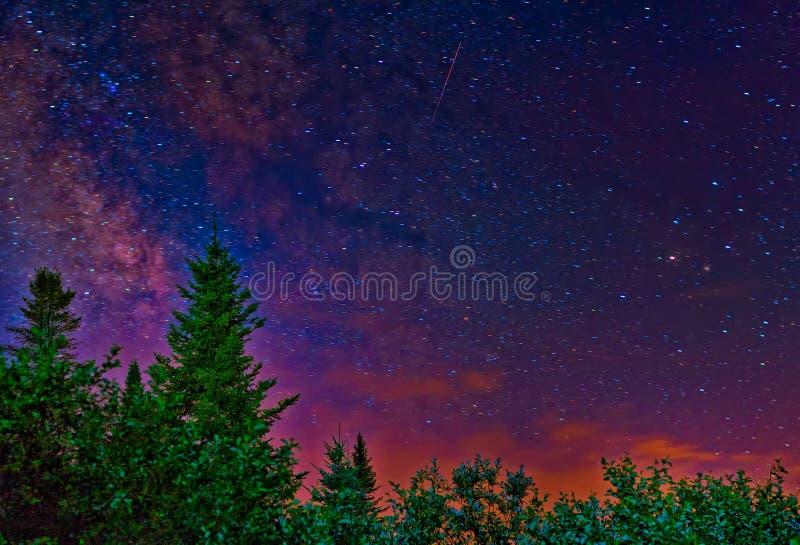milky ночное небо стоковые фотографии rf