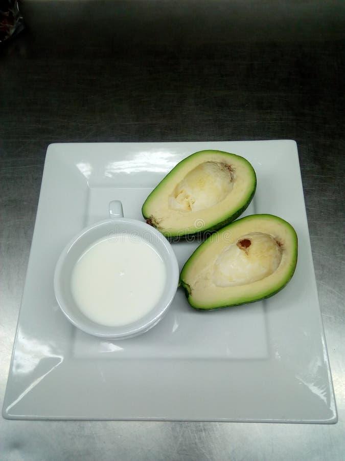Milky avocado obraz stock