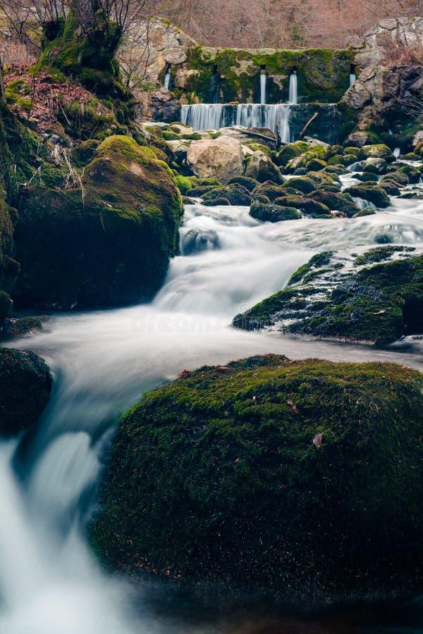 Milky cascading stream royalty free stock image
