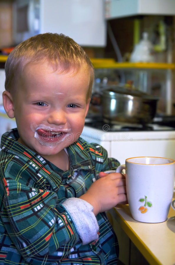 Milky happiness stock photography
