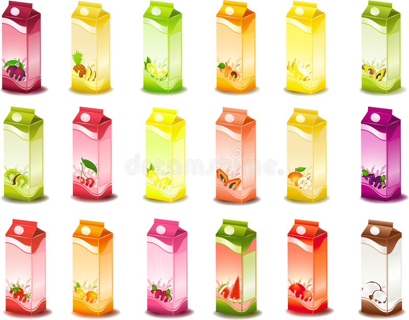Download Milky products with fruit stock vector. Illustration of design - 13502292
