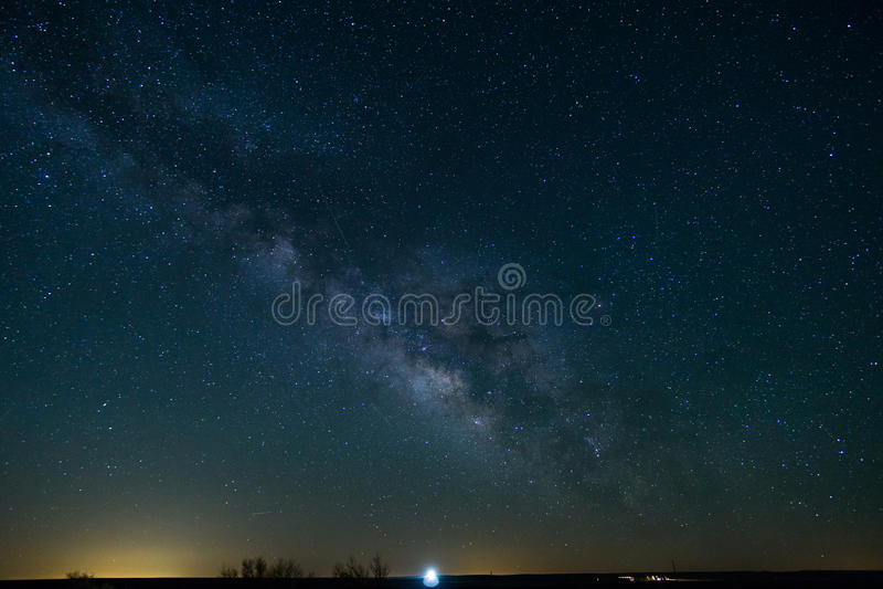 Milky sposób w Północnym Teksas zdjęcie royalty free