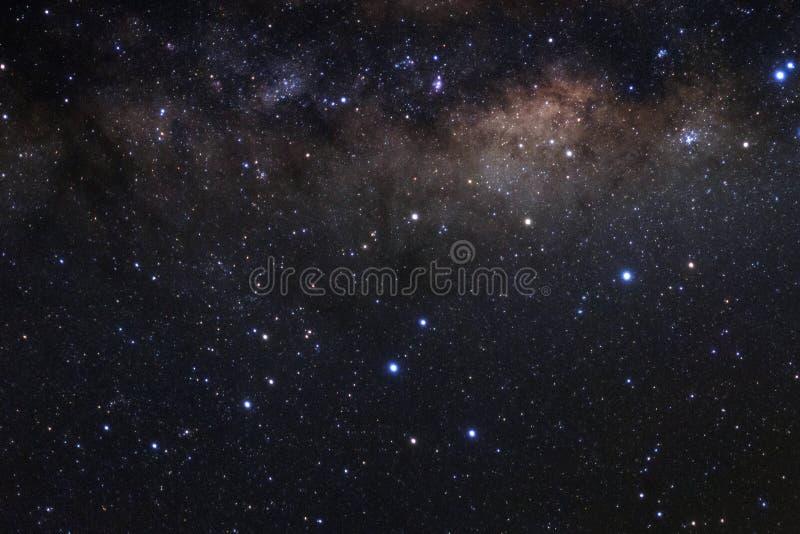 Milky sposobu galaxy z gwiazdami i astronautycznym pyłem w wszechświacie fotografia stock