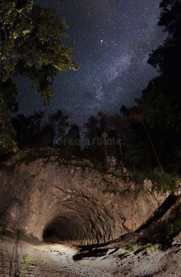MILKY sposobu tunel zdjęcie royalty free