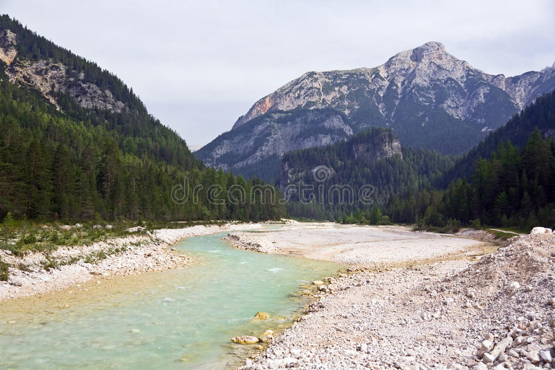 Download Milky Turquoise Stream In Dolomites Stock Image - Image of river, milky: 19712083