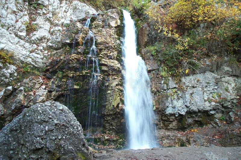Milky waterfall stock image